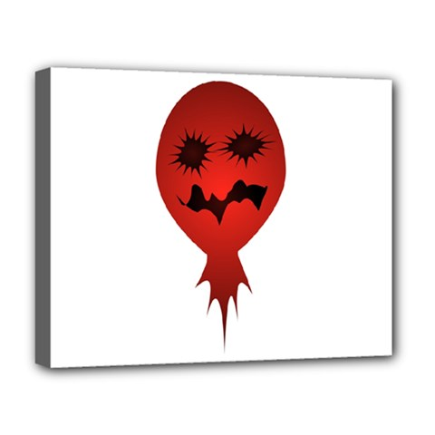 Evil Face Vector Illustration Deluxe Canvas 20  x 16  (Framed)