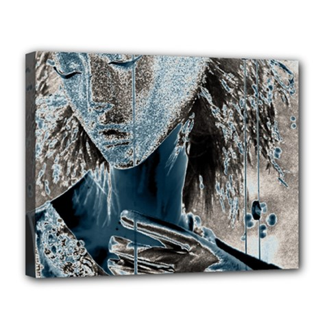 Feeling Blue Canvas 14  X 11  (framed)