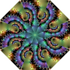 Satin Rainbow, Spiral Curves Through the Cosmos  Bikini Hook Handle Umbrella (Large)