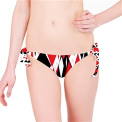 Distorted Diamonds In Black & Red Bikini Bottom