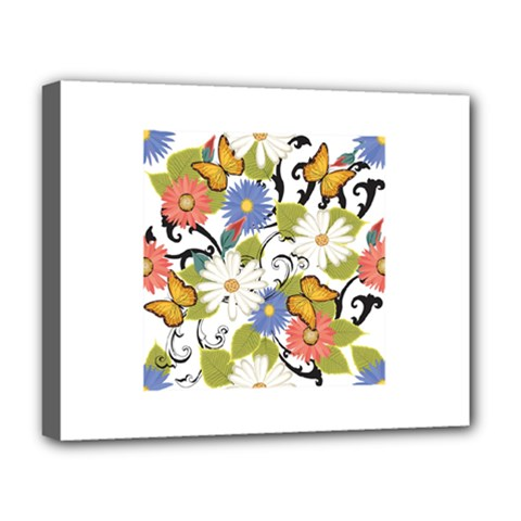 Floral Fantasy Deluxe Canvas 20  X 16  (framed)
