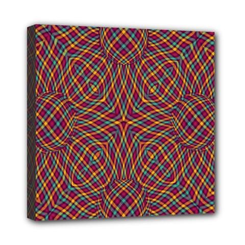 Trippy Tartan Mini Canvas 8  X 8  (framed)