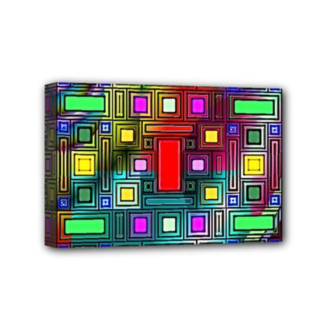 Abstract Modern Mini Canvas 6  X 4  (framed)