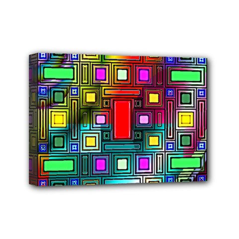 Abstract Modern Mini Canvas 7  X 5  (framed)