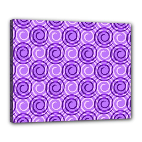 Purple And White Swirls Background Canvas 20  x 16  (Framed)