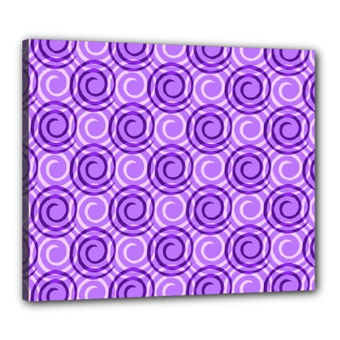 Purple And White Swirls Background Canvas 24  X 20  (framed)