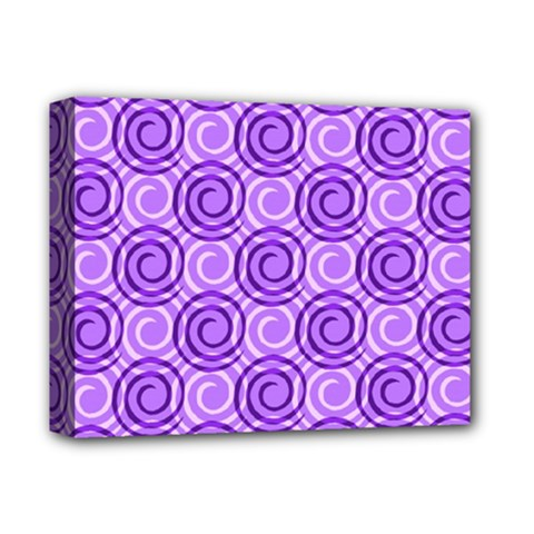 Purple And White Swirls Background Deluxe Canvas 14  X 11  (framed)