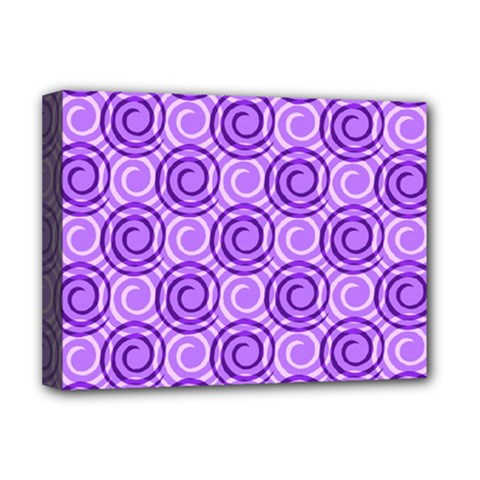 Purple And White Swirls Background Deluxe Canvas 16  X 12  (framed)