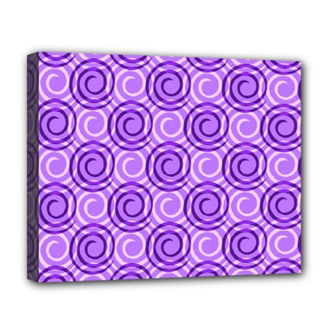 Purple And White Swirls Background Deluxe Canvas 20  x 16  (Framed)