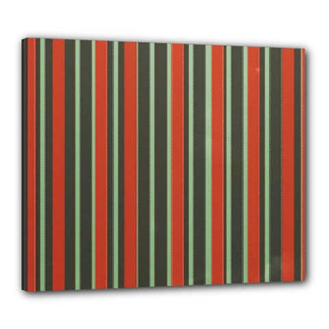Festive Stripe Canvas 24  x 20  (Framed)