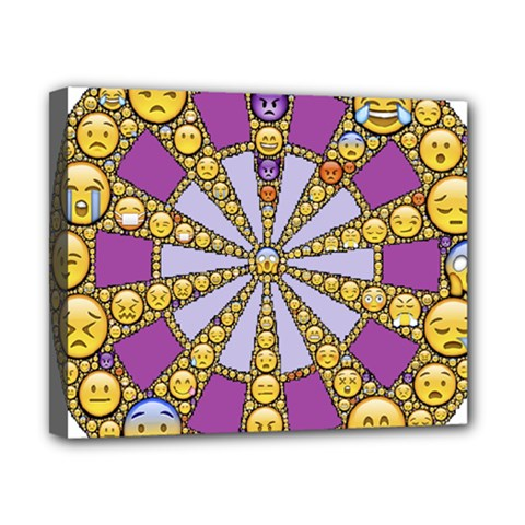 Circle Of Emotions Canvas 10  X 8  (framed)