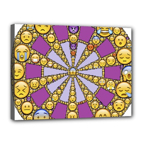 Circle Of Emotions Canvas 16  x 12  (Framed)