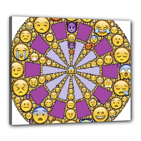 Circle Of Emotions Canvas 24  X 20  (framed)
