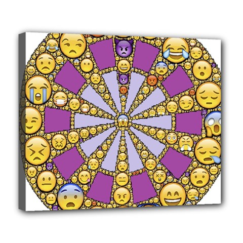 Circle Of Emotions Deluxe Canvas 24  X 20  (framed)