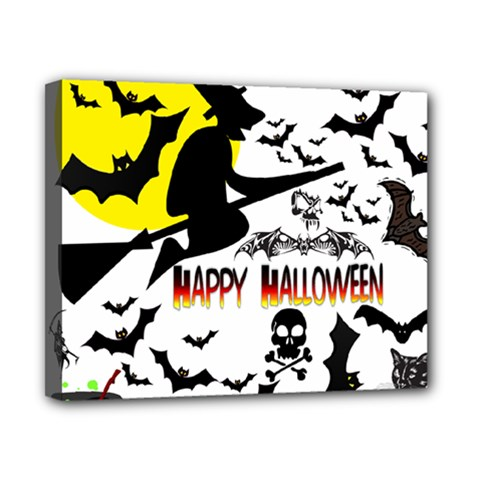 Happy Halloween Collage Canvas 10  x 8  (Framed)