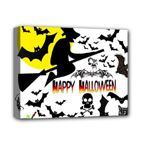 Happy Halloween Collage Deluxe Canvas 14  X 11  (framed)