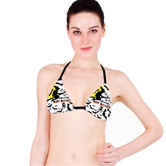 Happy Halloween Collage Bikini Top