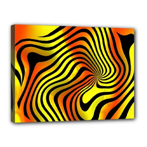 Colored Zebra Canvas 16  x 12  (Framed)