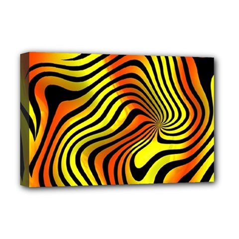 Colored Zebra Deluxe Canvas 18  X 12  (framed)