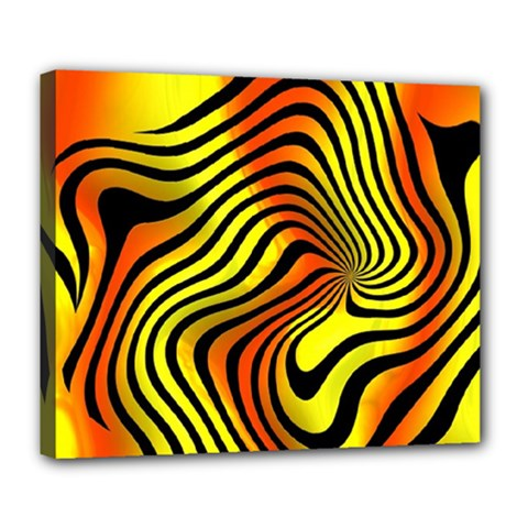 Colored Zebra Deluxe Canvas 24  X 20  (framed)