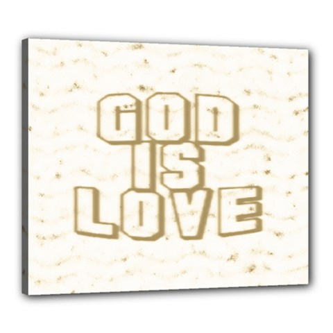 God Is Love Gold1 Canvas 24  x 20  (Framed)