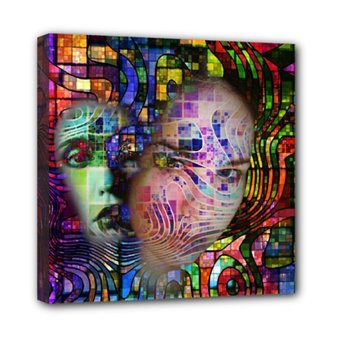Artistic Confusion Of Brain Fog Mini Canvas 8  X 8  (framed)