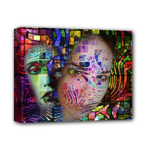Artistic Confusion Of Brain Fog Deluxe Canvas 14  x 11  (Framed)