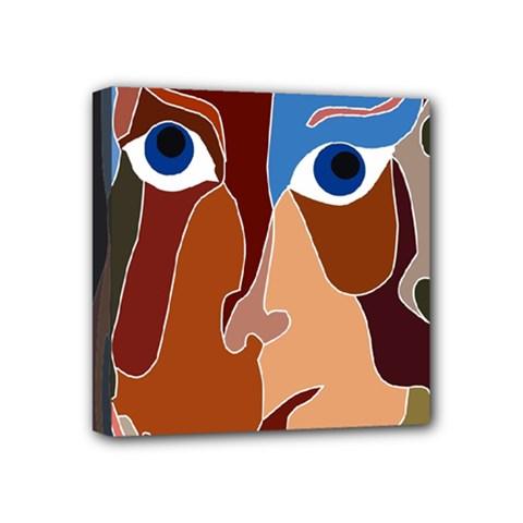 Abstract God Mini Canvas 4  x 4  (Framed)