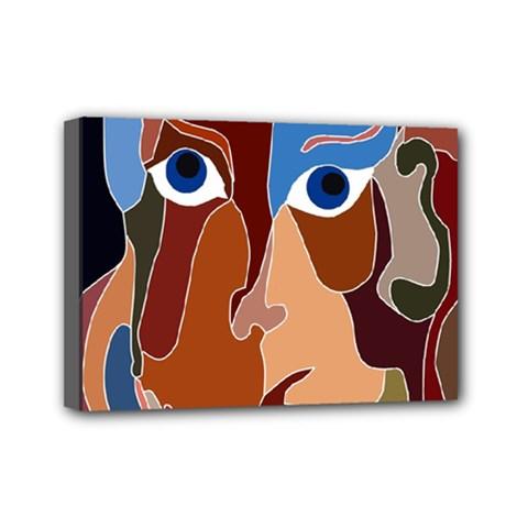 Abstract God Mini Canvas 7  X 5  (framed)