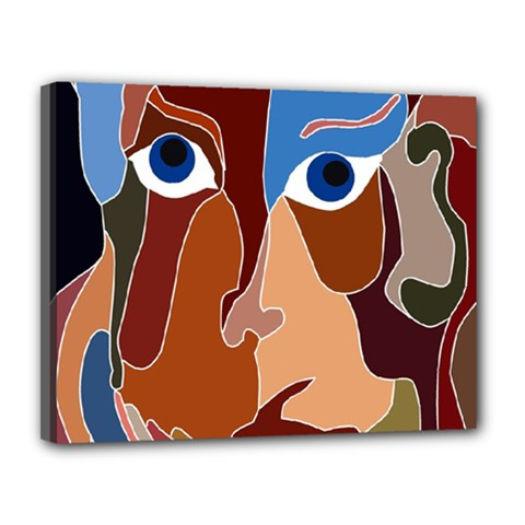 Abstract God Canvas 14  x 11  (Framed)