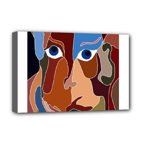 Abstract God Deluxe Canvas 18  x 12  (Framed)