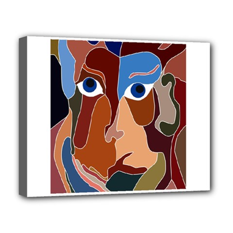Abstract God Deluxe Canvas 20  x 16  (Framed)