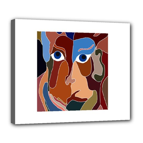 Abstract God Deluxe Canvas 24  x 20  (Framed)