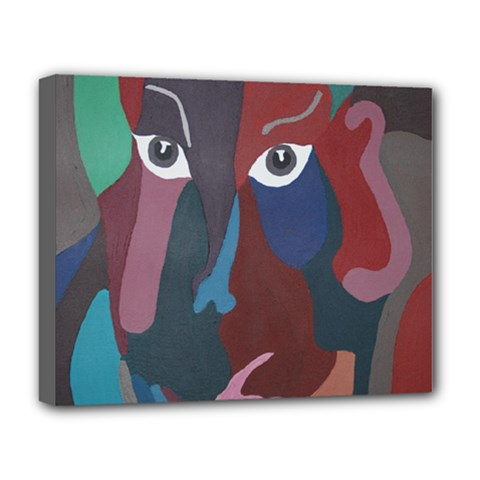 Abstract God Pastel Deluxe Canvas 20  X 16  (framed)
