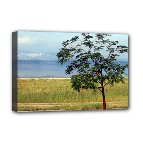 Sea Of Galilee Deluxe Canvas 18  X 12  (framed)