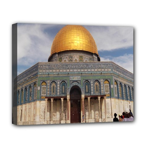 The Dome Of The Rock  Deluxe Canvas 20  x 16  (Framed)