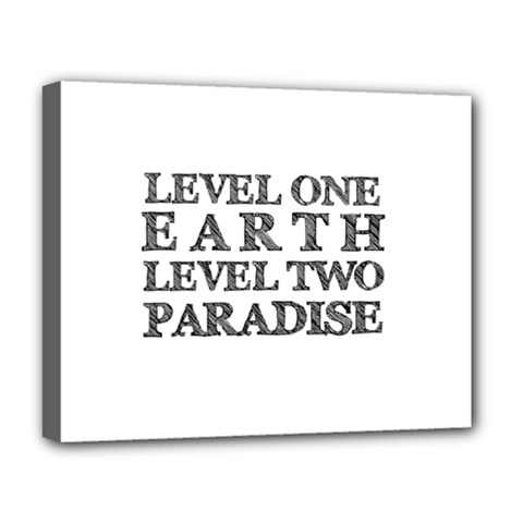 Level One Earth Deluxe Canvas 20  X 16  (framed)