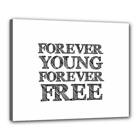 Forever Young Canvas 20  x 16  (Framed)