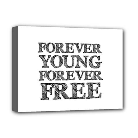 Forever Young Deluxe Canvas 16  x 12  (Framed)