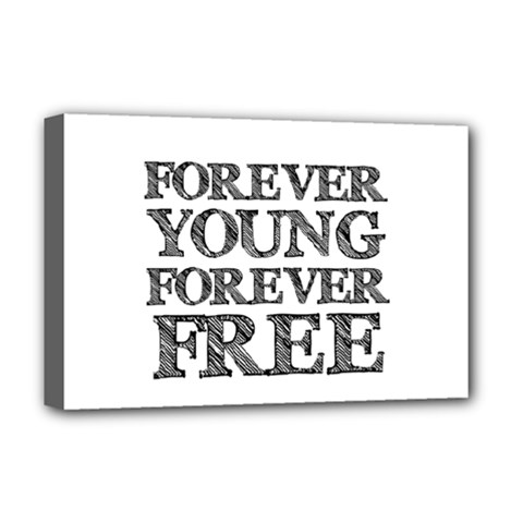 Forever Young Deluxe Canvas 18  x 12  (Framed)