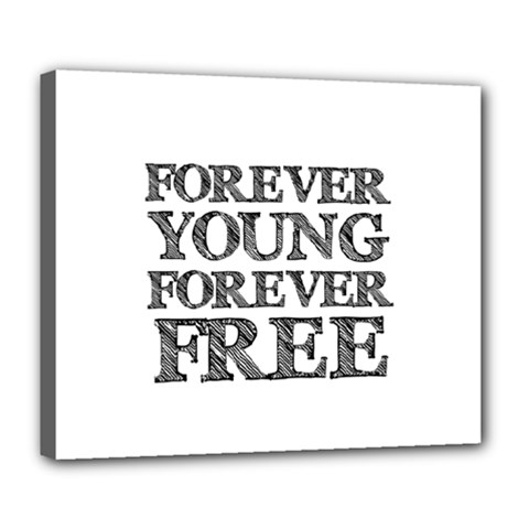 Forever Young Deluxe Canvas 24  x 20  (Framed)