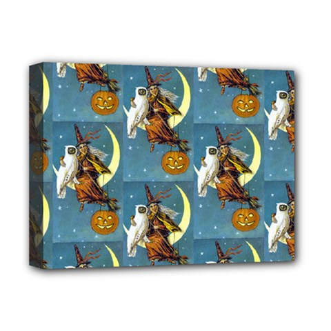 Vintage Halloween Witch Deluxe Canvas 16  x 12  (Framed)