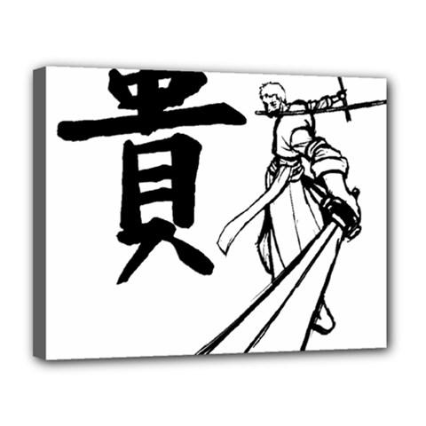 A Swordsman s Honor Canvas 14  x 11  (Framed)