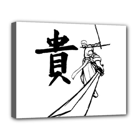 A Swordsman s Honor Deluxe Canvas 20  x 16  (Framed)