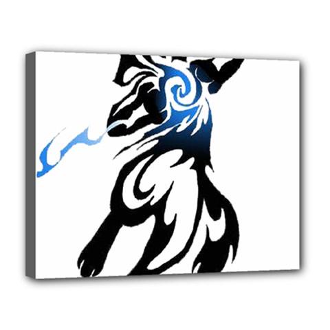 Alpha Dog Canvas 14  x 11  (Framed)