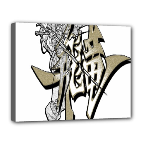 The Flying Dragon Canvas 14  X 11  (framed)