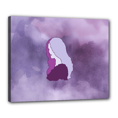 Profile Of Pain Canvas 20  x 16  (Framed)