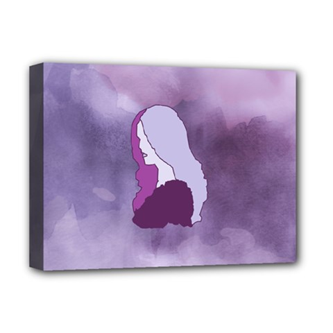 Profile Of Pain Deluxe Canvas 16  x 12  (Framed)