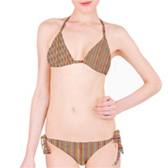 Grunge Colorful Stripes Bikini