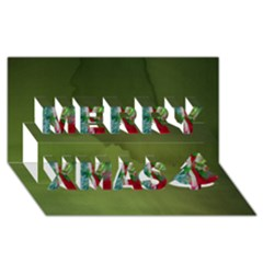 Christmas eve by saprillika Merry Xmas 3D Greeting Card (8x4)